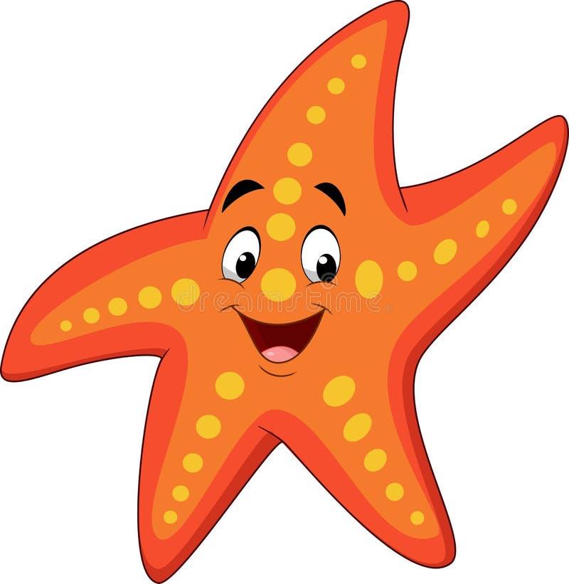 Estrela do mar feliz dos desenhos animados ilustração stock