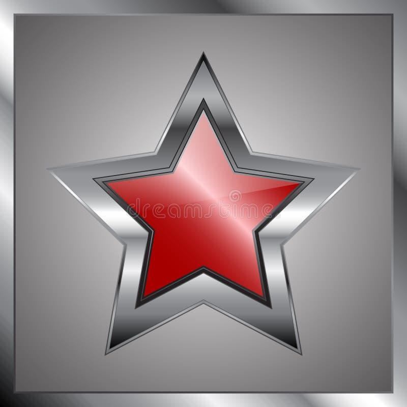 Estrela do metal ilustração do vetor