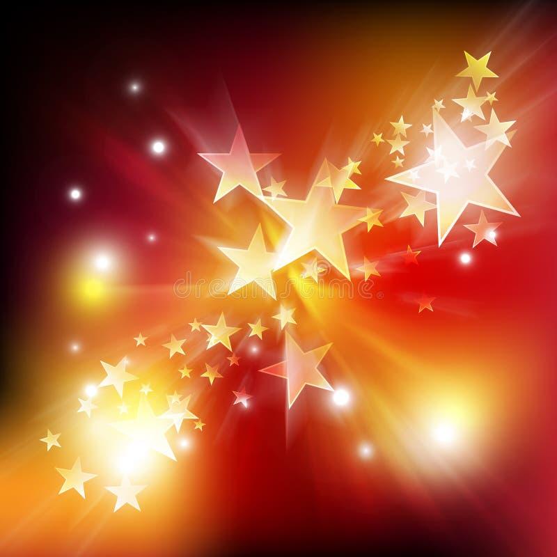 Estrela do movimento e fundo do brilho ilustração royalty free
