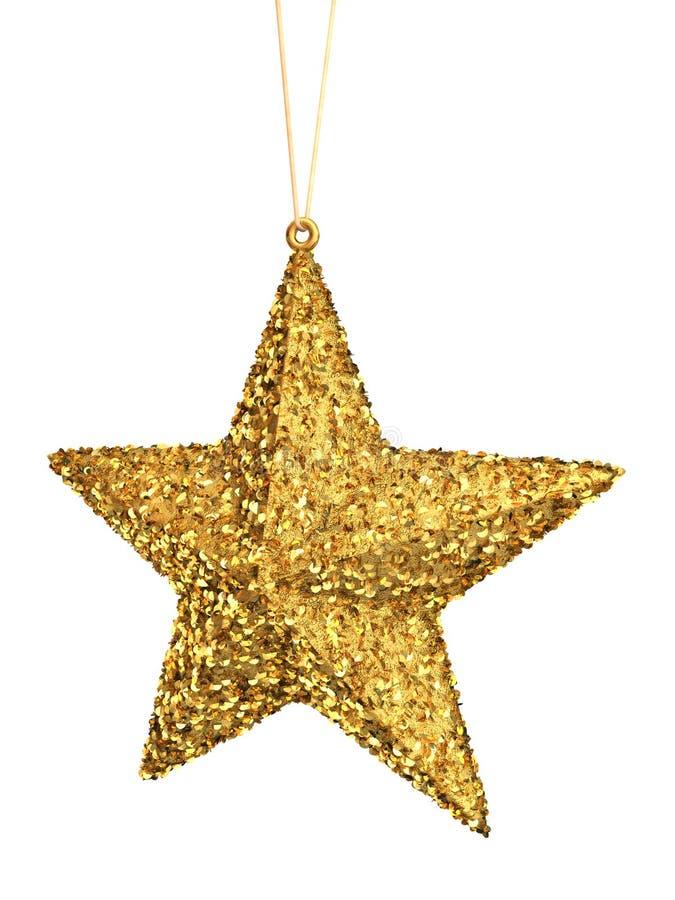 Estrela do Natal do ouro ilustração do vetor