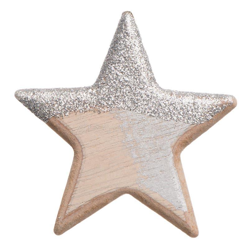 Estrela do Natal feita da madeira fotos de stock
