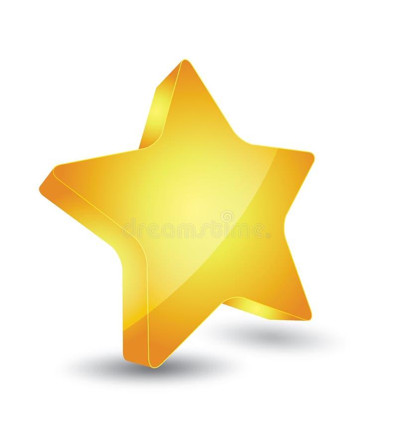 Estrela do ouro ilustração do vetor