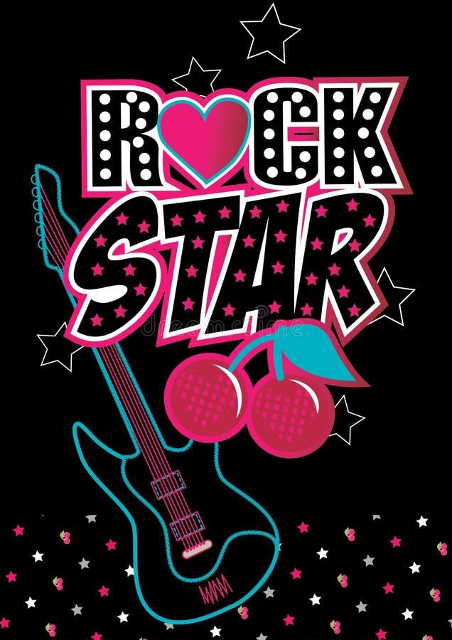 Estrela do rock. ilustração do vetor