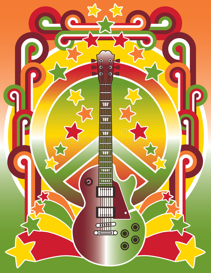 Estrela do rock ilustração stock