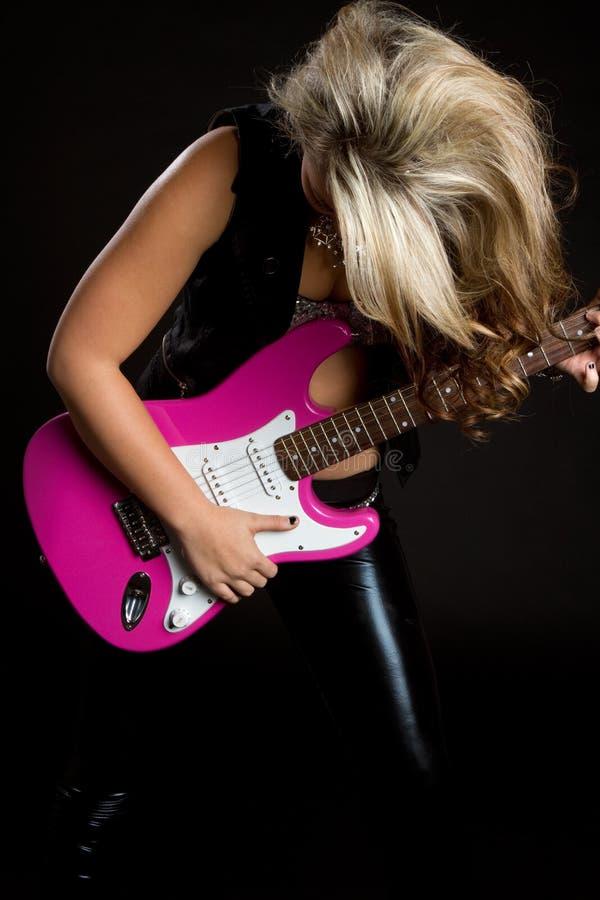 Estrela do rock da guitarra imagem de stock