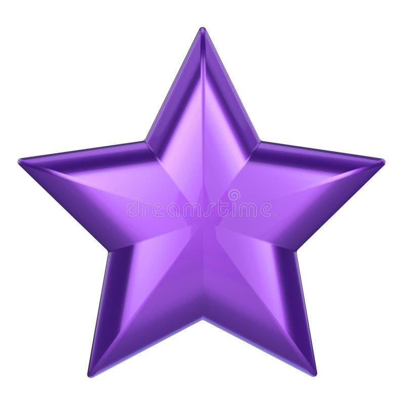 estrela do roxo da ilustração 3D ilustração do vetor