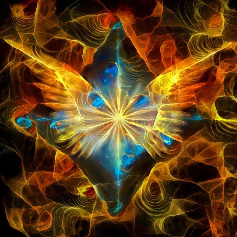 Estrela do ` s do anjo ilustração stock
