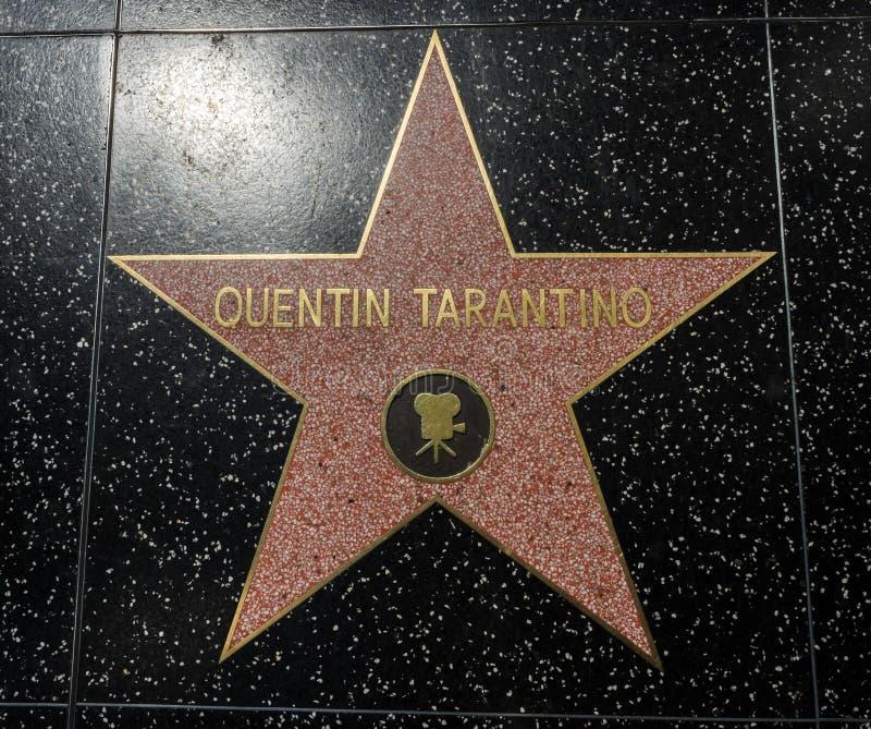 Estrela do ` s de Quentin Tarantino, caminhada de Hollywood da fama - 11 de agosto de 2017 - bulevar de Hollywood, Los Angeles, C imagens de stock