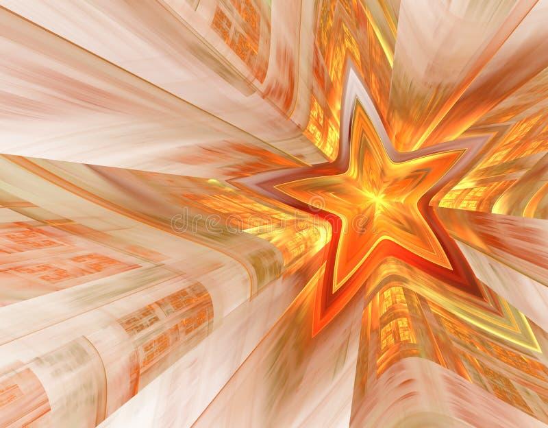 Estrela do vermelho de Moscou ilustração royalty free