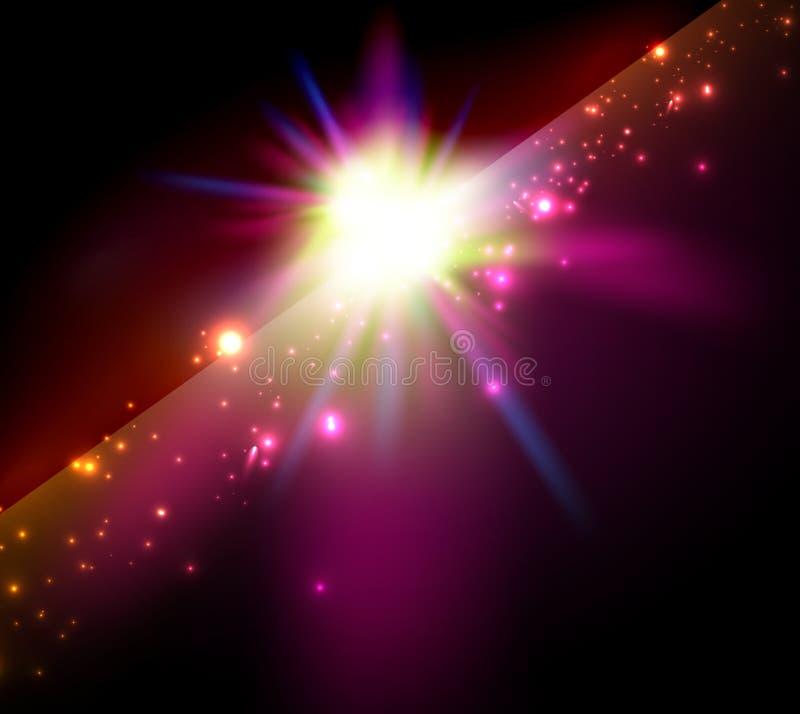 Estrela do vetor/fundo brilhantes abstratos do espaço ilustração stock