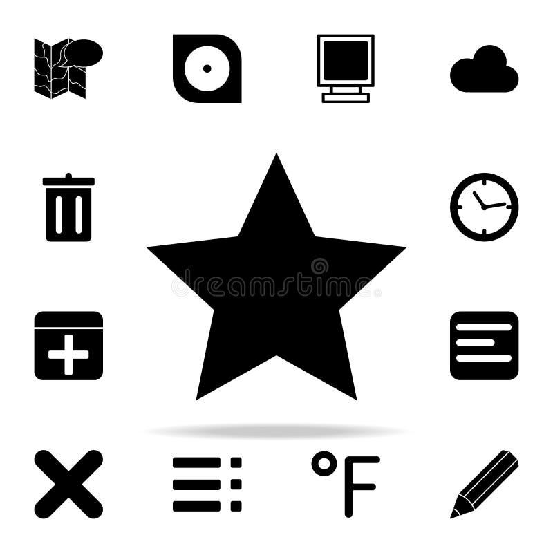 Estrela do vidro verde do vetor grupo universal dos ícones da Web para a Web e o móbil ilustração royalty free