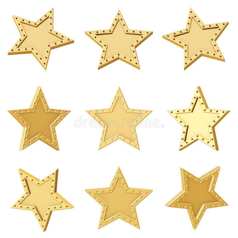 Estrela dourada Ângulos diferentes imagem de stock