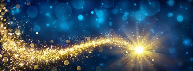 Estrela dourada do Natal ilustração stock