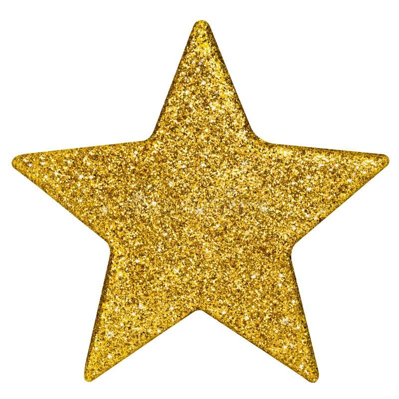 estrela dourada do Natal   fotos de stock