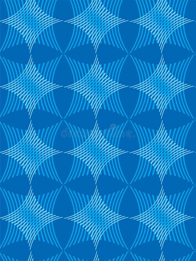 A estrela e a listra modelam azul ilustração do vetor