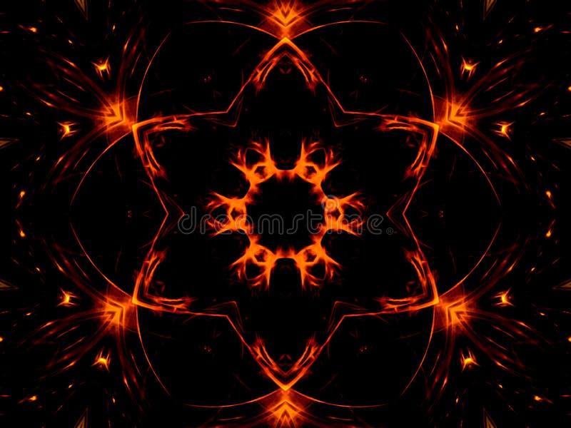 Estrela e luzes ilustração stock