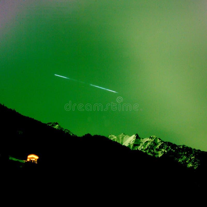 Estrela e montanhas imagens de stock