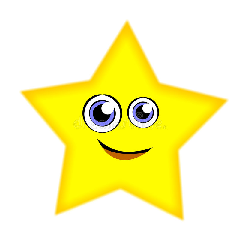 Estrela engraçada dos desenhos animados ilustração stock