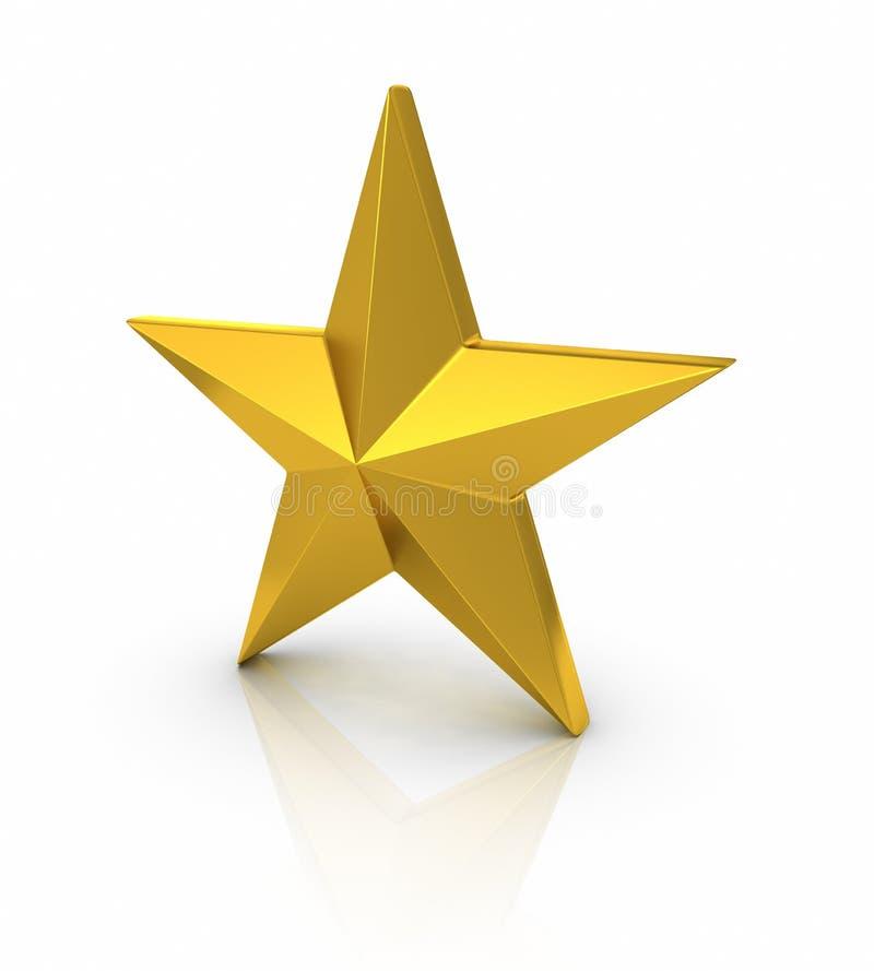Estrela escovada do ouro ilustração stock