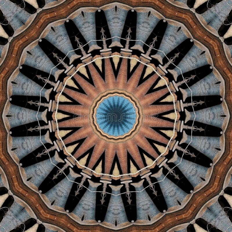 Estrela feita de carretéis do fio ilustração do vetor