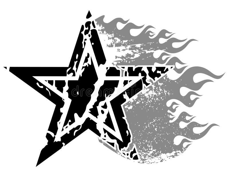 Estrela flamejante ilustração royalty free
