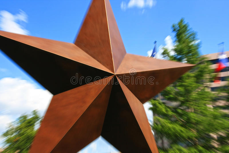 A estrela grande com explosão zumbe dentro Austin imagens de stock royalty free