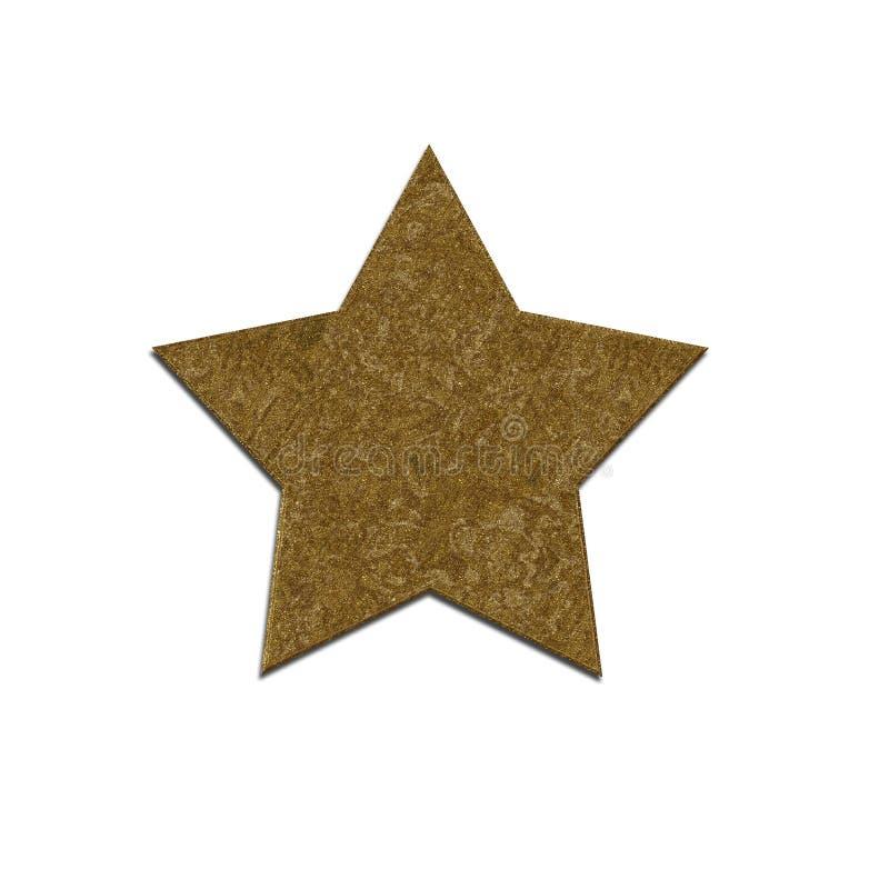 Estrela isolada do ouro fotografia de stock royalty free