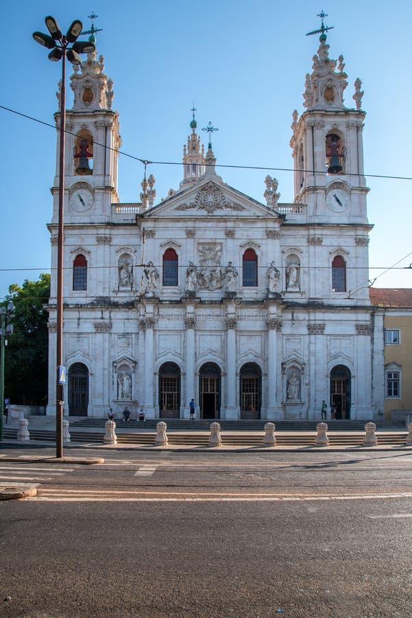 Estrela kościół w Lisbon obrazy royalty free