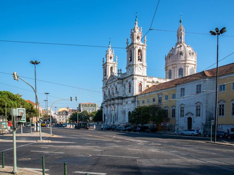 Estrela kościół w Lisbon zdjęcie stock