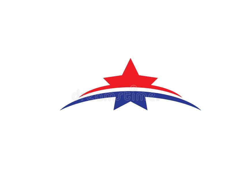 Estrela Logo Template ilustração do vetor