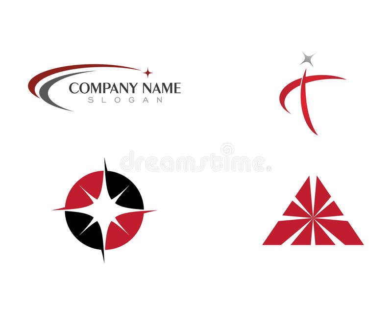 Estrela Logo Template ilustração stock