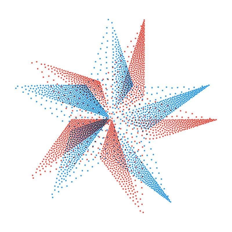 Estrela místico Símbolo geométrico abstrato Vetor ilustração stock