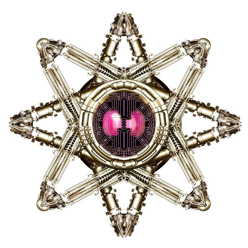 Estrela mecânica ilustração royalty free