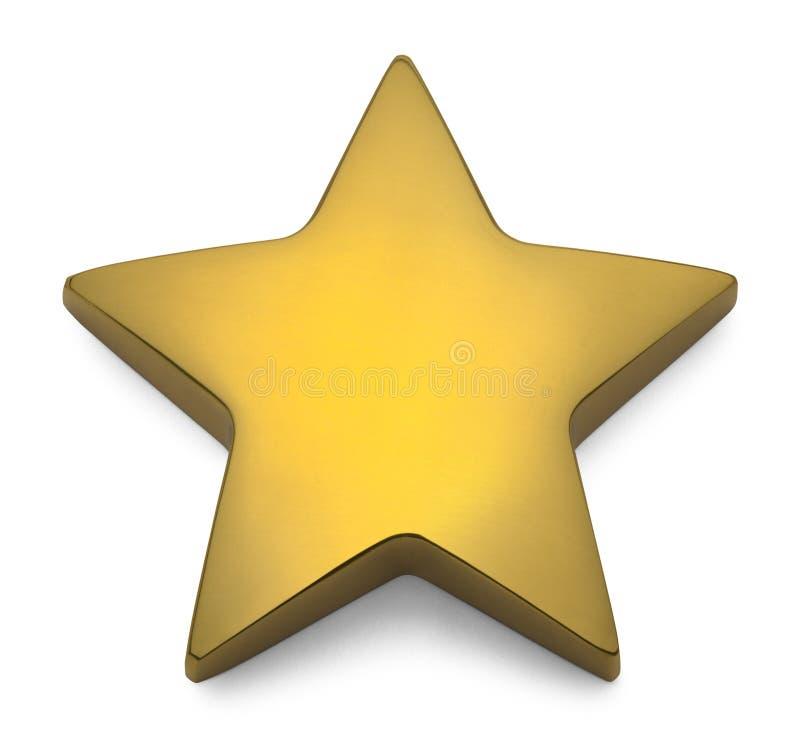Estrela metálica do ouro ilustração royalty free