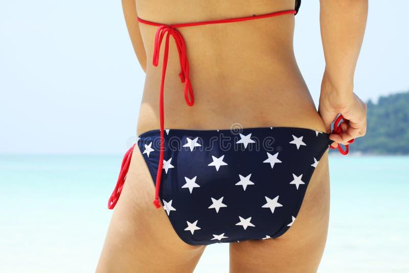 Estrela no biquini fotografia de stock