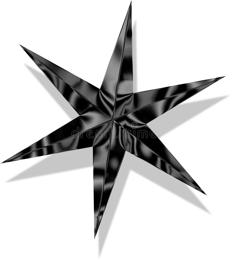 Estrela no cromo 3D ilustração royalty free