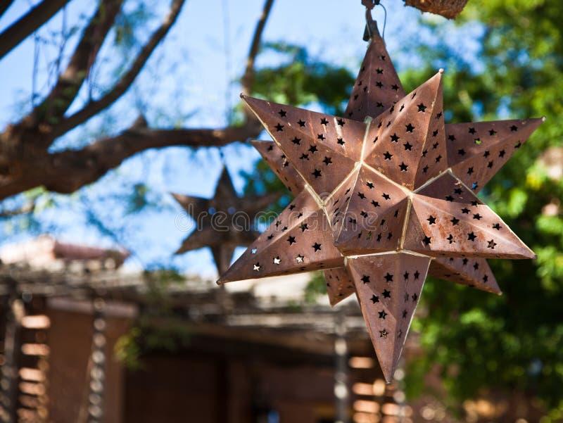 Estrela oxidada do metal imagem de stock