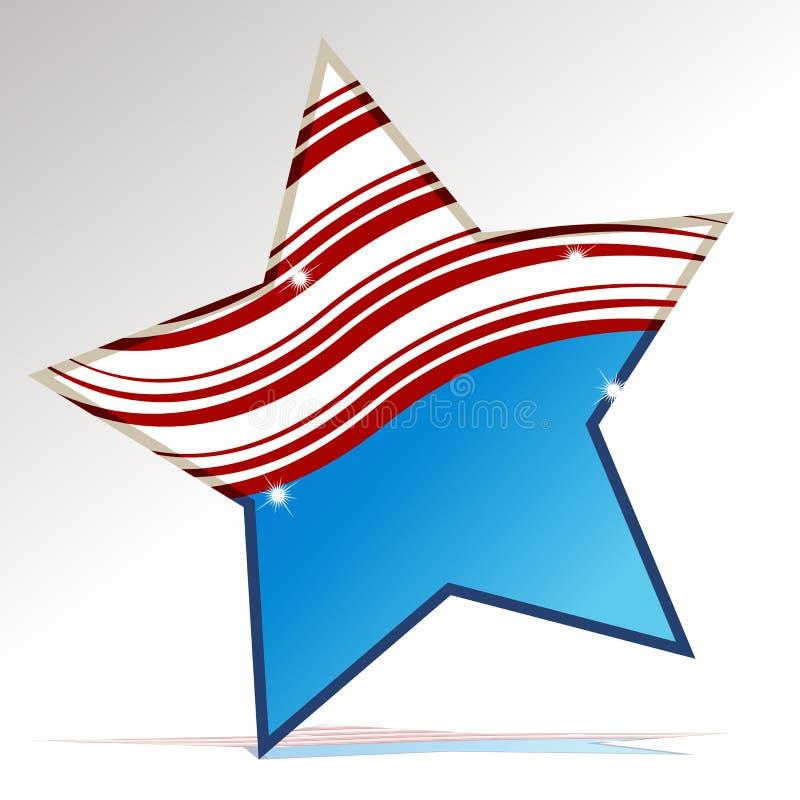 Estrela patriótica ilustração stock