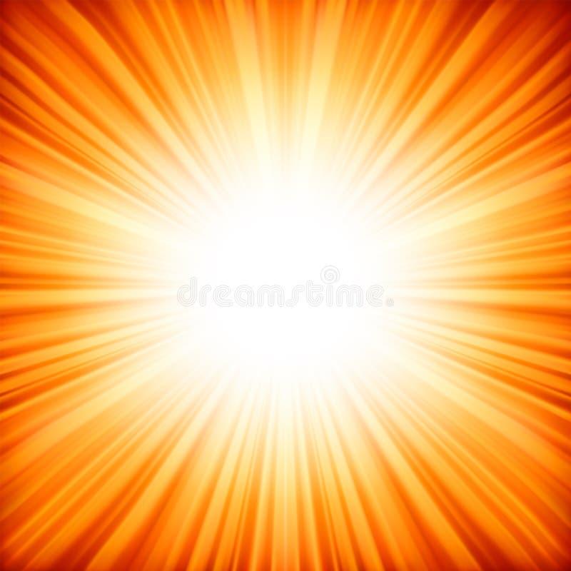 Estrela radiante abstrata. ilustração do vetor