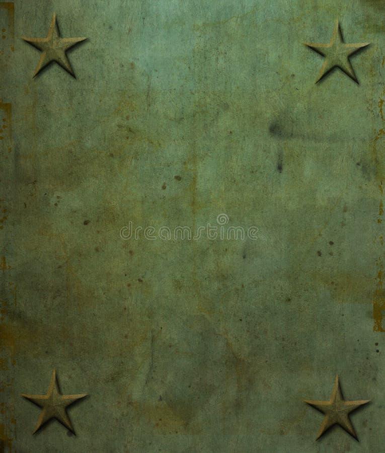 A estrela rebita o fundo de Grunge ilustração do vetor