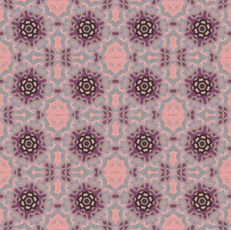 A estrela regular ornaments a luz roxa cor-de-rosa - cinza e marrom ilustração do vetor