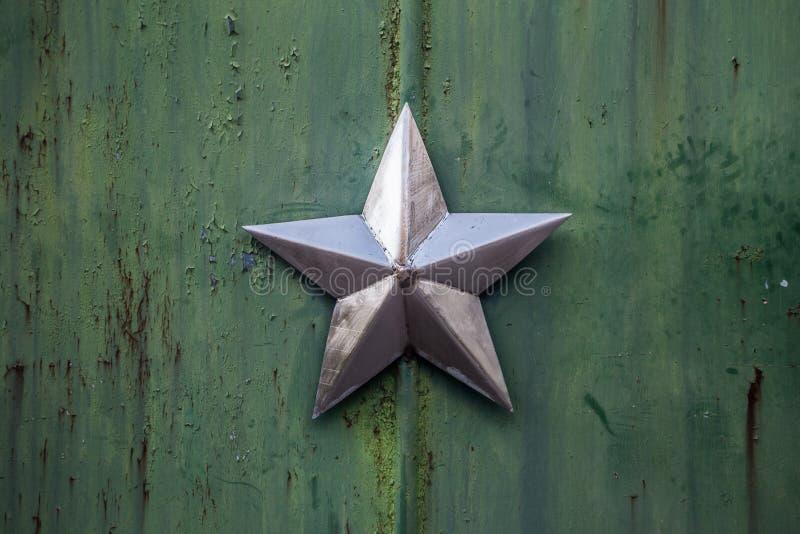 Estrela soviética em Chornobyl fotografia de stock