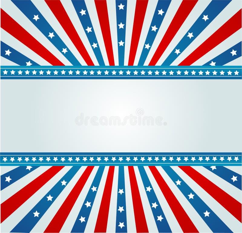 A estrela Spangled a bandeira ilustração do vetor