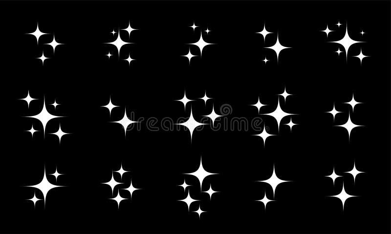 A estrela sparkles grupo de cintilação do vetor ilustração do vetor
