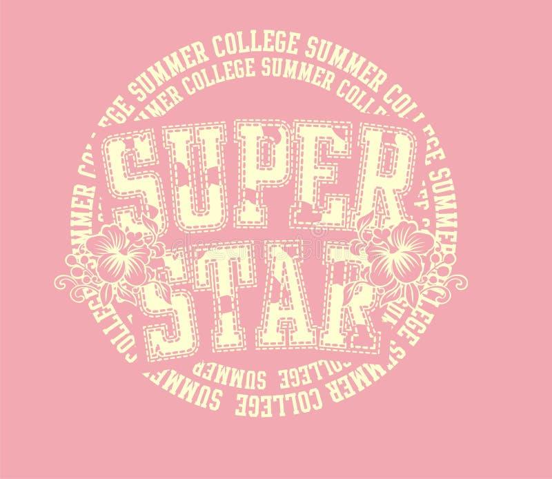 Estrela super ilustração royalty free