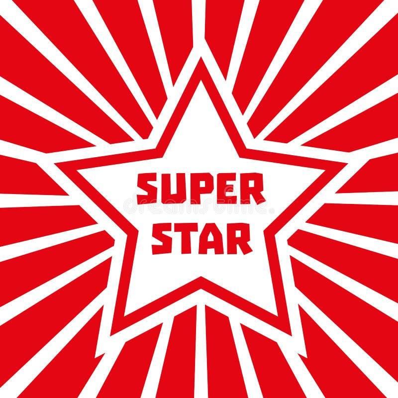 Estrela super ilustração stock
