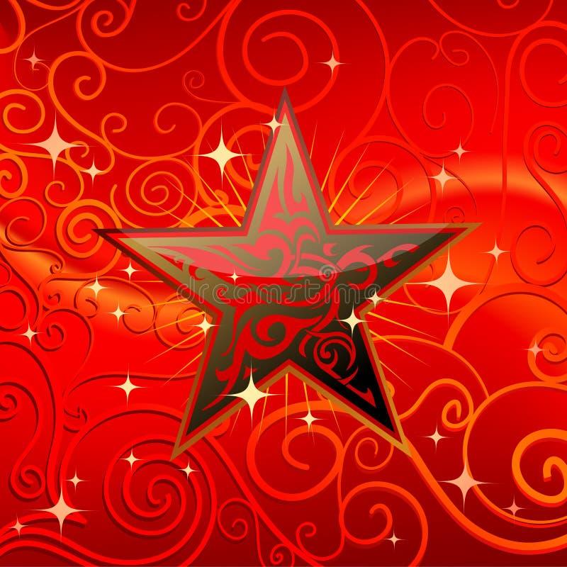 Estrela tribal ilustração stock