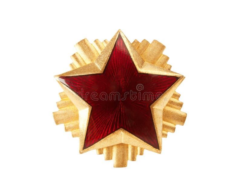 Estrela vermelha fotografia de stock