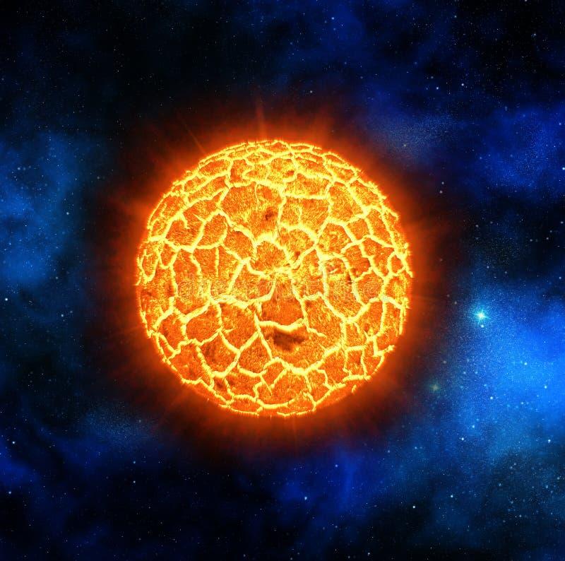 Estrela vermelha que explode ilustração do vetor