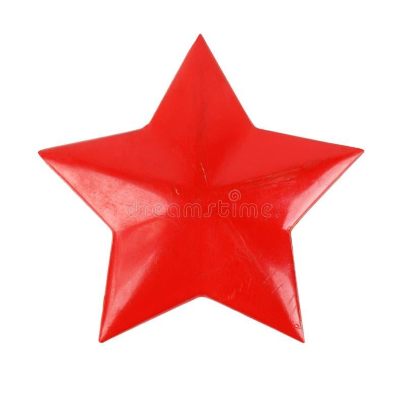 Estrela vermelha velha imagem de stock